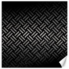 Woven2 Black Marble & Gray Metal 1 Canvas 12  X 12