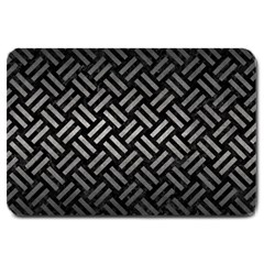 Woven2 Black Marble & Gray Metal 1 Large Doormat