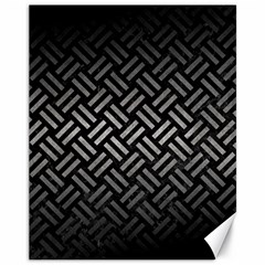 Woven2 Black Marble & Gray Metal 1 Canvas 11  X 14