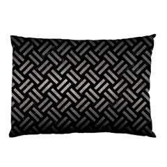 Woven2 Black Marble & Gray Metal 1 Pillow Case