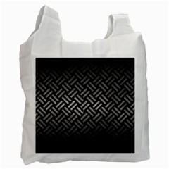 Woven2 Black Marble & Gray Metal 1 Recycle Bag (one Side)