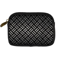 Woven2 Black Marble & Gray Metal 1 Digital Camera Cases