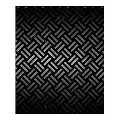 Woven2 Black Marble & Gray Metal 1 Shower Curtain 60  X 72  (medium)