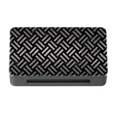 Woven2 Black Marble & Gray Metal 1 Memory Card Reader With Cf