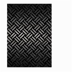 Woven2 Black Marble & Gray Metal 1 Large Garden Flag (two Sides)