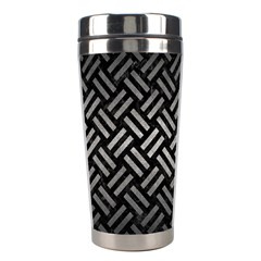 Woven2 Black Marble & Gray Metal 1 Stainless Steel Travel Tumblers