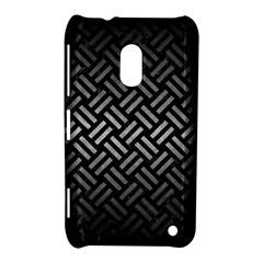 Woven2 Black Marble & Gray Metal 1 Nokia Lumia 620