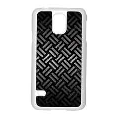 Woven2 Black Marble & Gray Metal 1 Samsung Galaxy S5 Case (white)