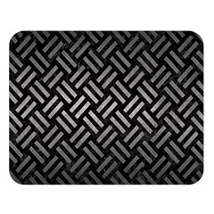 Woven2 Black Marble & Gray Metal 1 Double Sided Flano Blanket (large)