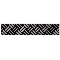 Woven2 Black Marble & Gray Metal 1 Flano Scarf (large)