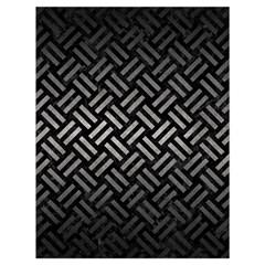 Woven2 Black Marble & Gray Metal 1 Drawstring Bag (large)