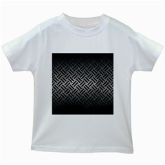 Woven2 Black Marble & Gray Metal 1 (r) Kids White T Shirts
