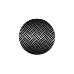 Woven2 Black Marble & Gray Metal 1 (r) Golf Ball Marker (10 Pack)