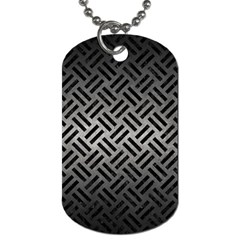 Woven2 Black Marble & Gray Metal 1 (r) Dog Tag (two Sides)
