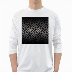 Woven2 Black Marble & Gray Metal 1 (r) White Long Sleeve T Shirts