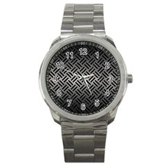 Woven2 Black Marble & Gray Metal 1 (r) Sport Metal Watch