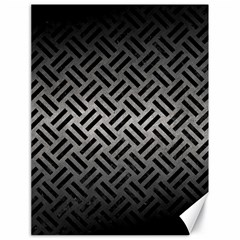 Woven2 Black Marble & Gray Metal 1 (r) Canvas 18  X 24