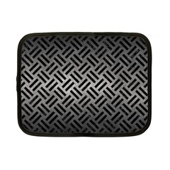 Woven2 Black Marble & Gray Metal 1 (r) Netbook Case (small)