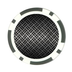 Woven2 Black Marble & Gray Metal 1 (r) Poker Chip Card Guard (10 Pack)