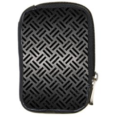 Woven2 Black Marble & Gray Metal 1 (r) Compact Camera Cases