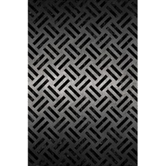 Woven2 Black Marble & Gray Metal 1 (r) 5 5  X 8 5  Notebooks