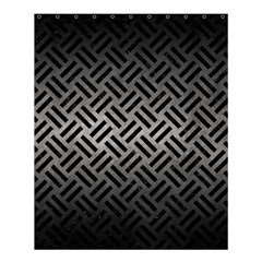 Woven2 Black Marble & Gray Metal 1 (r) Shower Curtain 60  X 72  (medium)