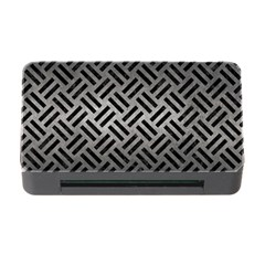 Woven2 Black Marble & Gray Metal 1 (r) Memory Card Reader With Cf