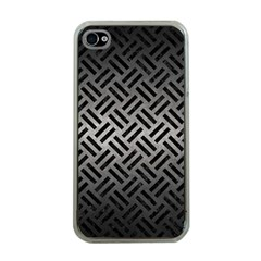 Woven2 Black Marble & Gray Metal 1 (r) Apple Iphone 4 Case (clear)