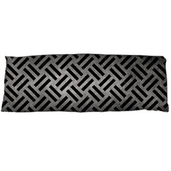 Woven2 Black Marble & Gray Metal 1 (r) Body Pillow Case Dakimakura (two Sides)