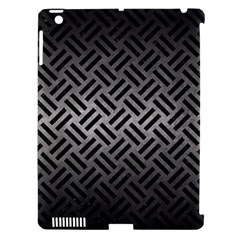 Woven2 Black Marble & Gray Metal 1 (r) Apple Ipad 3/4 Hardshell Case (compatible With Smart Cover)