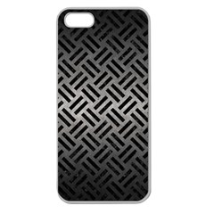 Woven2 Black Marble & Gray Metal 1 (r) Apple Seamless Iphone 5 Case (clear)