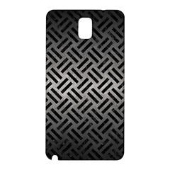 Woven2 Black Marble & Gray Metal 1 (r) Samsung Galaxy Note 3 N9005 Hardshell Back Case