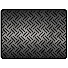 Woven2 Black Marble & Gray Metal 1 (r) Double Sided Fleece Blanket (large)