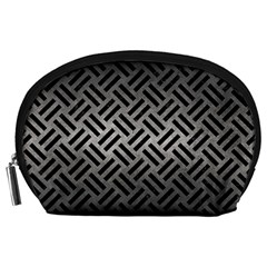 Woven2 Black Marble & Gray Metal 1 (r) Accessory Pouches (large)