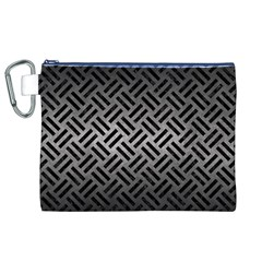 Woven2 Black Marble & Gray Metal 1 (r) Canvas Cosmetic Bag (xl)