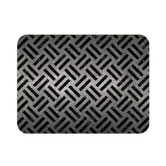 Woven2 Black Marble & Gray Metal 1 (r) Double Sided Flano Blanket (mini)