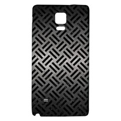 Woven2 Black Marble & Gray Metal 1 (r) Galaxy Note 4 Back Case