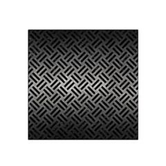 Woven2 Black Marble & Gray Metal 1 (r) Satin Bandana Scarf