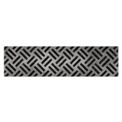 Woven2 Black Marble & Gray Metal 1 (r) Satin Scarf (oblong)