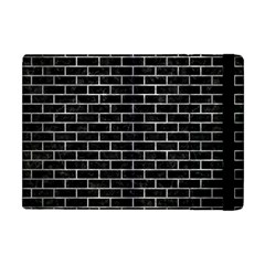 Brick1 Black Marble & Gray Metal 2 Apple Ipad Mini Flip Case