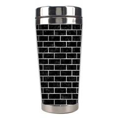 Brick1 Black Marble & Gray Metal 2 Stainless Steel Travel Tumblers