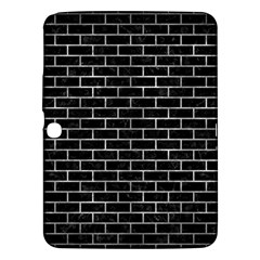 Brick1 Black Marble & Gray Metal 2 Samsung Galaxy Tab 3 (10 1 ) P5200 Hardshell Case