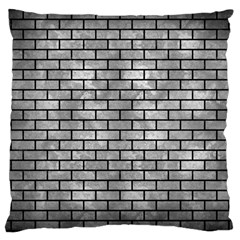 Brick1 Black Marble & Gray Metal 2 (r) Large Cushion Case (one Side)