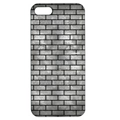 Brick1 Black Marble & Gray Metal 2 (r) Apple Iphone 5 Hardshell Case With Stand