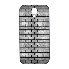 Brick1 Black Marble & Gray Metal 2 (r) Samsung Galaxy S4 I9500/i9505  Hardshell Back Case