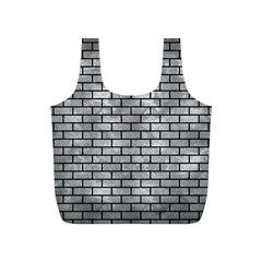 Brick1 Black Marble & Gray Metal 2 (r) Full Print Recycle Bags (s)