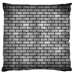 Brick1 Black Marble & Gray Metal 2 (r) Large Flano Cushion Case (two Sides)