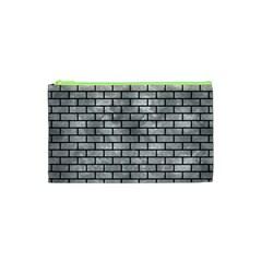 Brick1 Black Marble & Gray Metal 2 (r) Cosmetic Bag (xs)