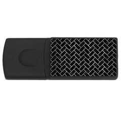 Brick2 Black Marble & Gray Metal 2 Rectangular Usb Flash Drive
