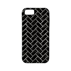 Brick2 Black Marble & Gray Metal 2 Apple Iphone 5 Classic Hardshell Case (pc+silicone)